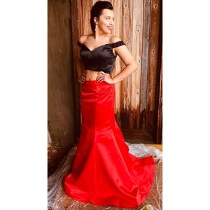 Dresses & Skirts - 2 Piece Black & Red Prom Dress